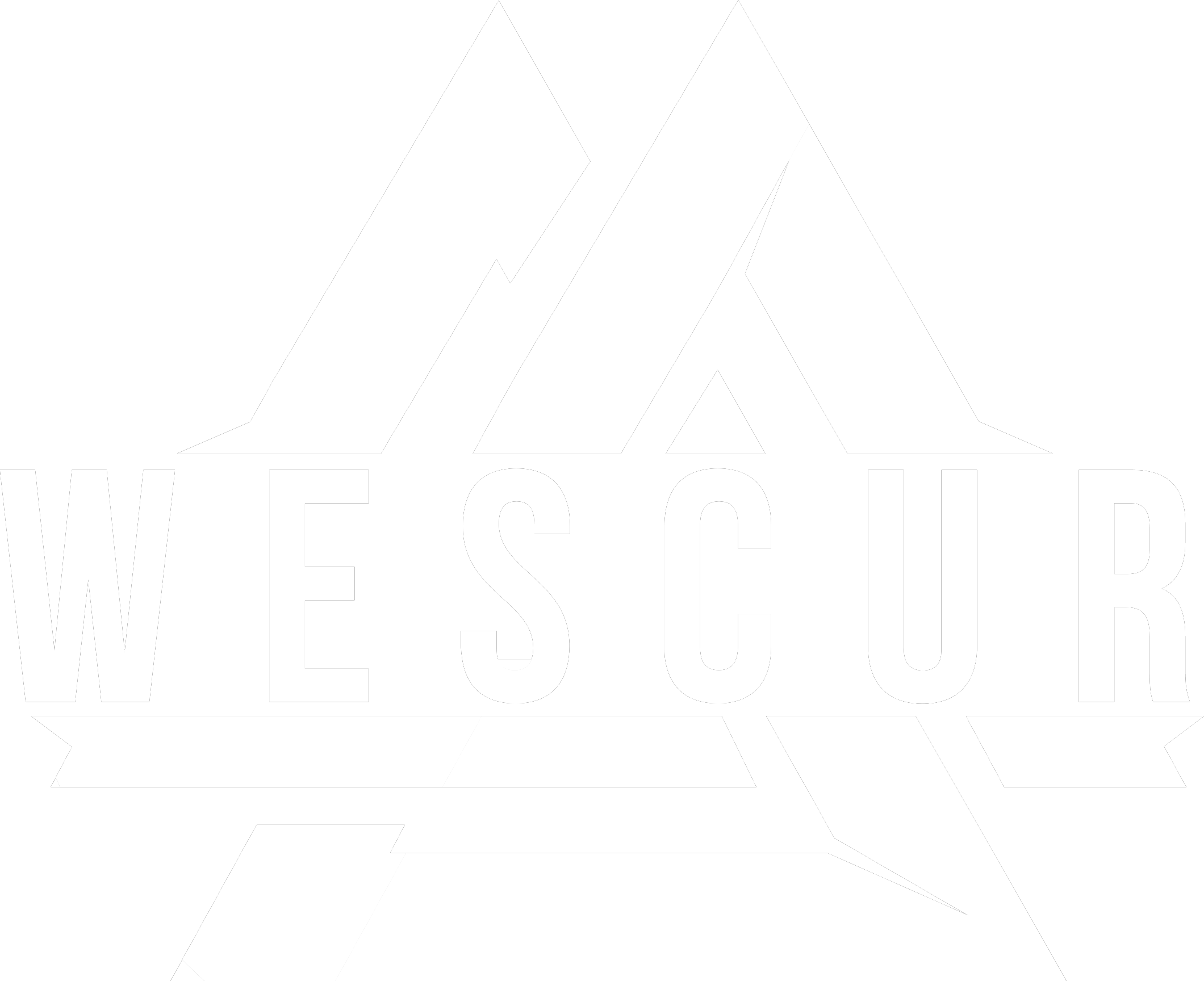 Logo wescur wit